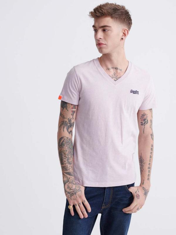 "Superdry Herren T-Shirt - ""OL VINTAGE EMB VEE TEE CHALK P"""