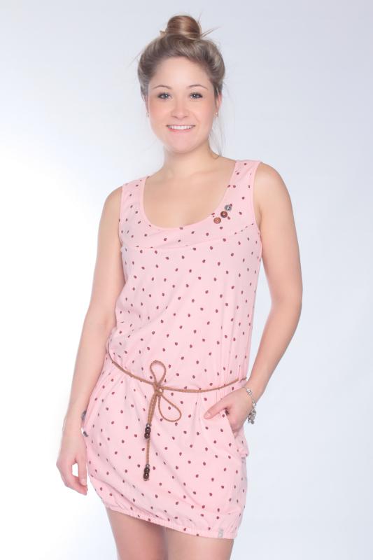 "STRANGE Damen Kleid - ""LORELLA pearl pink / marienkäfer"""