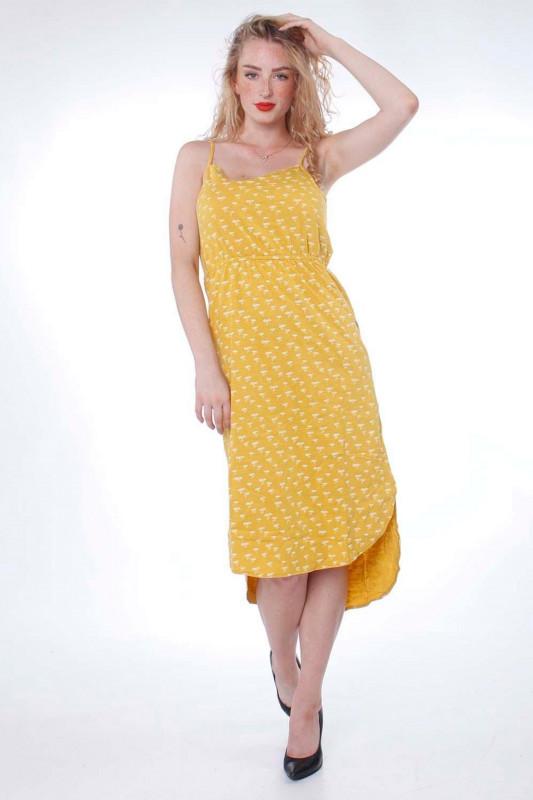 """Strange Damen Kleid - """"Melinda mustard / white flowers"""""""