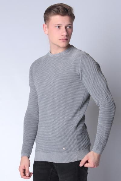 "PETROL Herren Pullover - ""Knitwear R-Neck iron blue"""