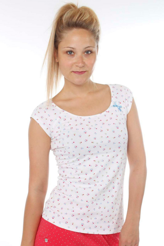 "STRANGE Damen T-Shirt - ""DESI 2 white / colorful flowers"""