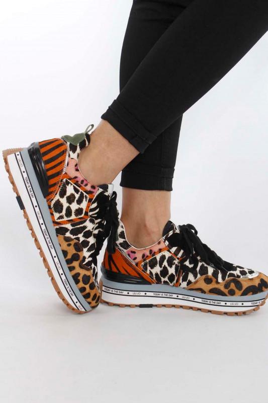 "Liu Jo Damen Sneaker - ""Maxi Alexa running leopard"""