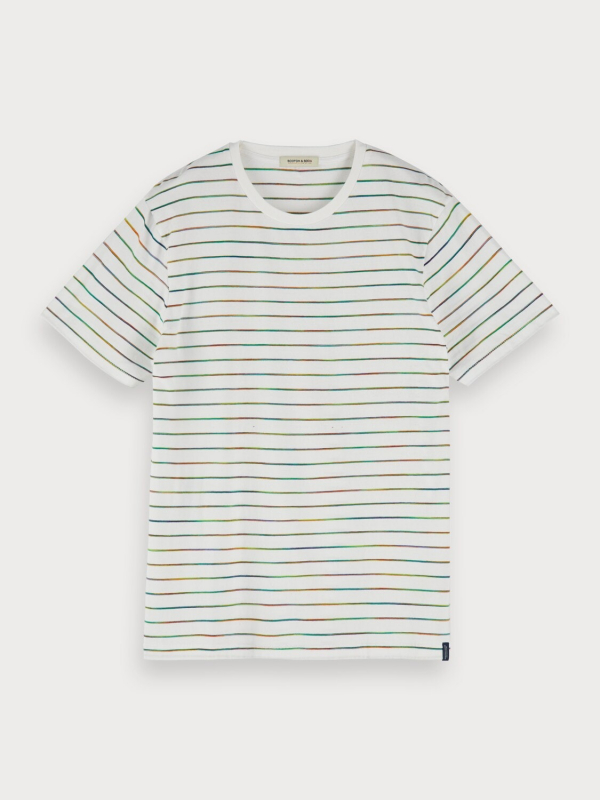 "Scotch & Soda Herren T-Shirt - ""Creneck tee with multicolor st"""