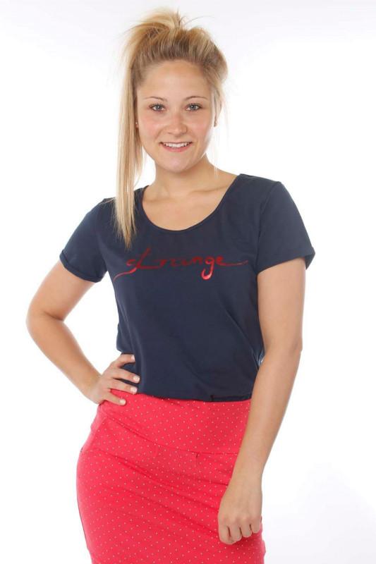 """STRANGE Damen T-Shirt - """"JULIANE navy & magenta"""""""