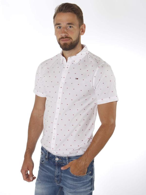 """Tommy Hilfiger Herren Hemd - """"Shortsleeve dobby shirt white/dots"""""""