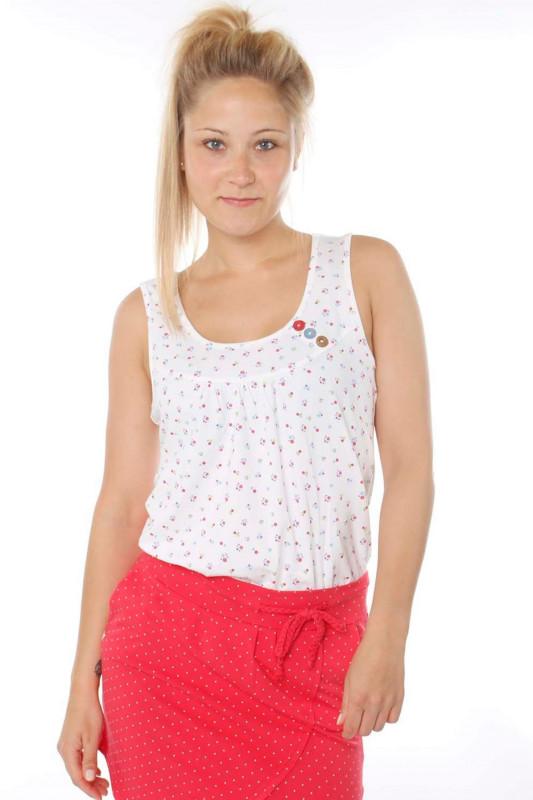 "STRANGE Damen Top - ""ADRIANA white / colorful flowers"""