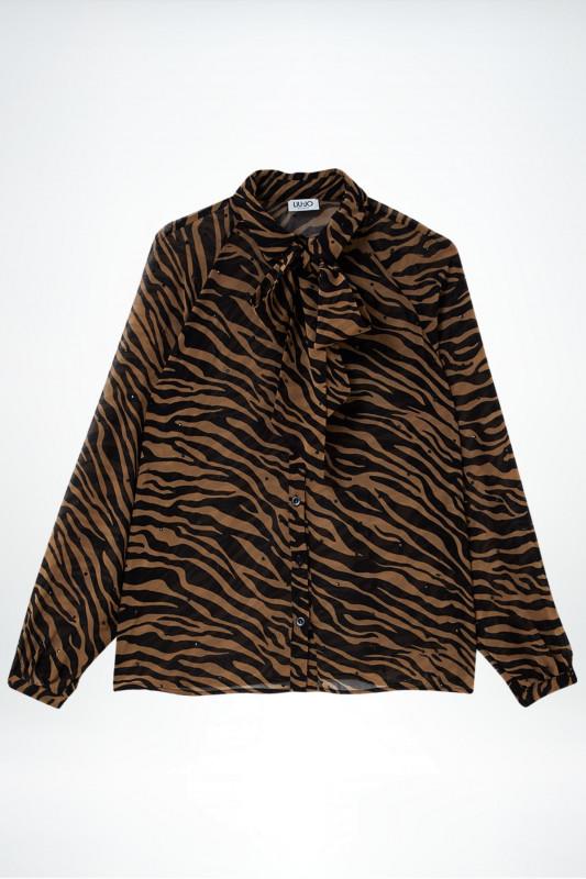 """Liu Jo Damen Bluse - """"Camicia Oroi M/L winter animal"""""""
