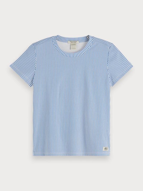 "Maison & Scotch Damen T-Shirt - ""Basic Tee in mercerized Jersey"""