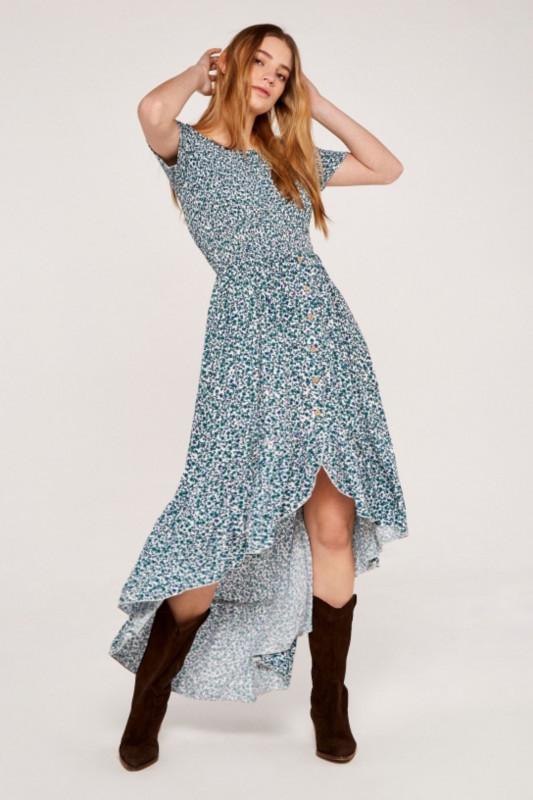 "APRICOT Damen Kleid - ""Vintage Ditsy aqua"""