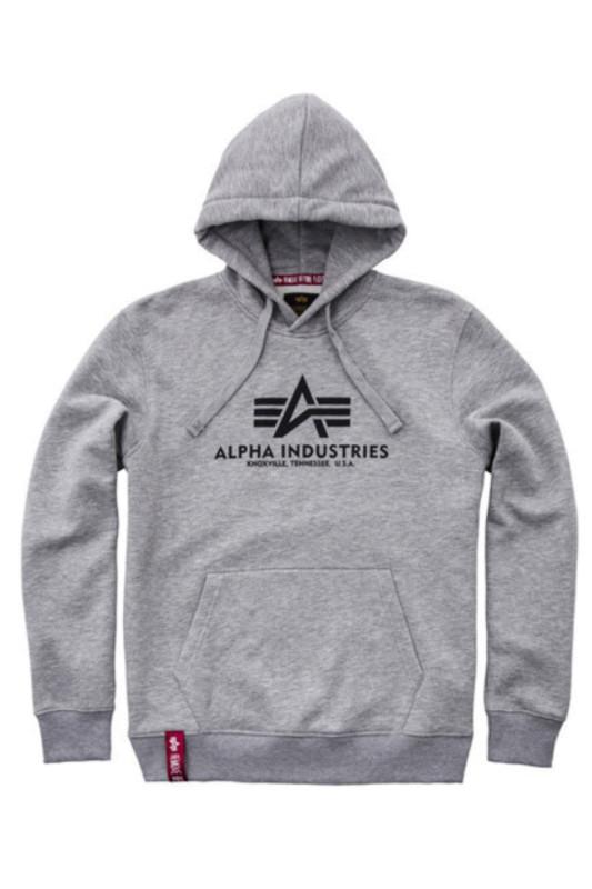 "ALPHA INDUSTRIES Herren Sweatshirt - ""Basic Sweater grey heather"""