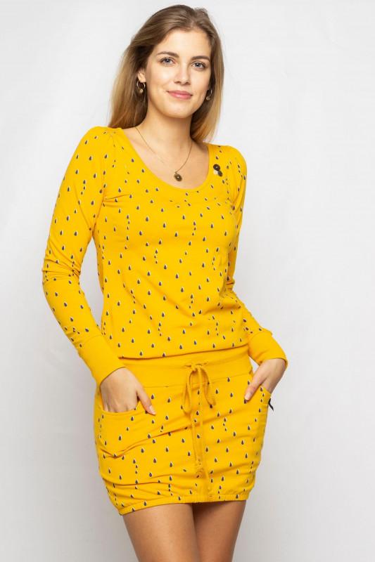 "STRANGE Damen Kleid - ""MARIA 2 mustard / drops"""