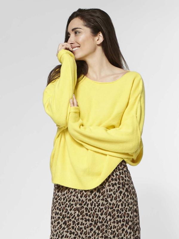 "Circle of Trust Damen Longsleeve - ""Zane knit yellow sun"""
