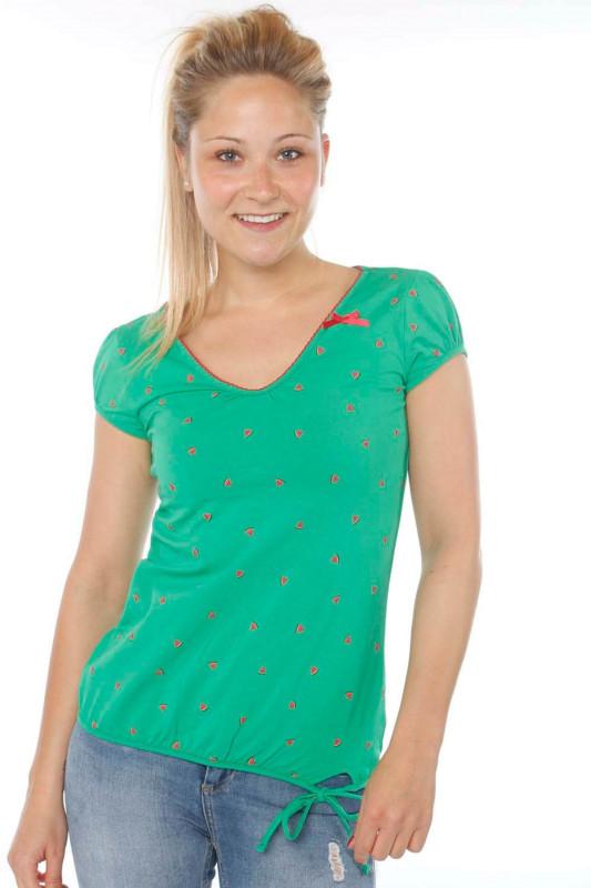 "STRANGE Damen T-Shirt - ""ILI 3 SS green / melons"""