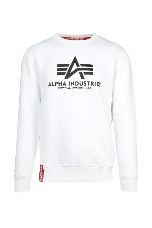 "ALPHA INDUSTRIES Herren Sweatshirt - ""BASIC SWEATER white"""