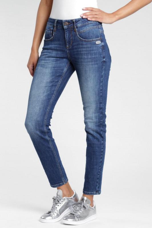 "GANG Damen Jeans - ""Massima Slim Fit High Rise Jeans indigo basic"""