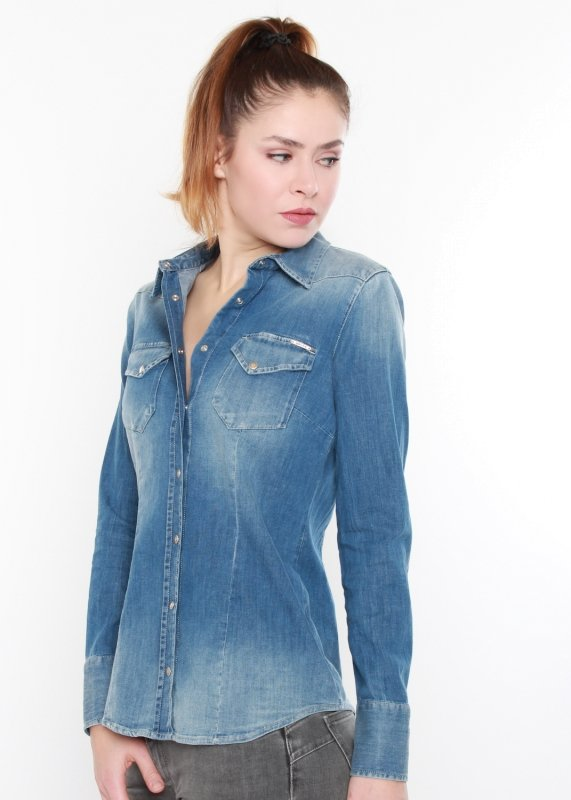 "GAS Damen Bluse - ""Camicie M/L Marah New Denim WY79"""