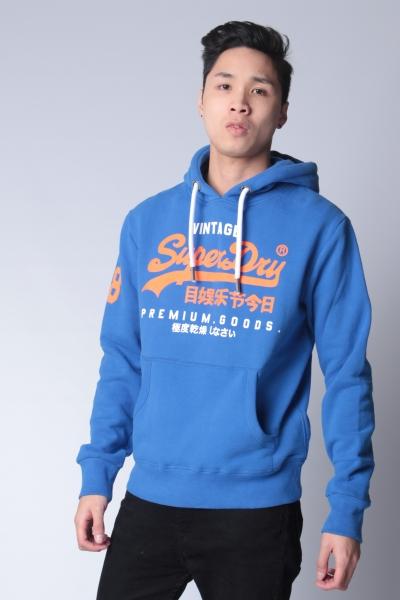 """SUPERDRY Herren Sweatshirt - """"Premium Goods Duo Hood eagle blue"""""""