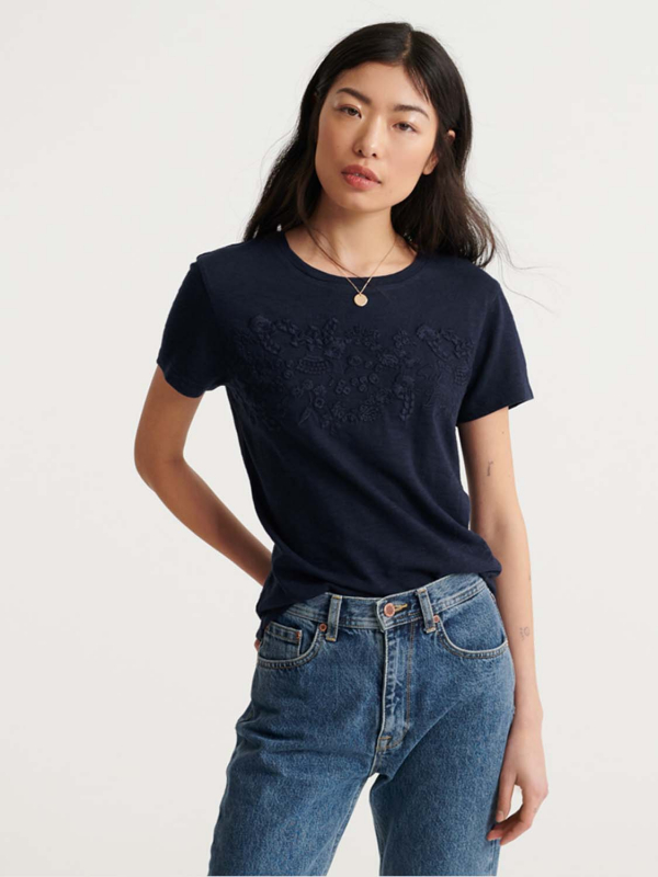 "SUPERDRY Damen T-Shirt - ""Tinsley Embroidery Tee"""