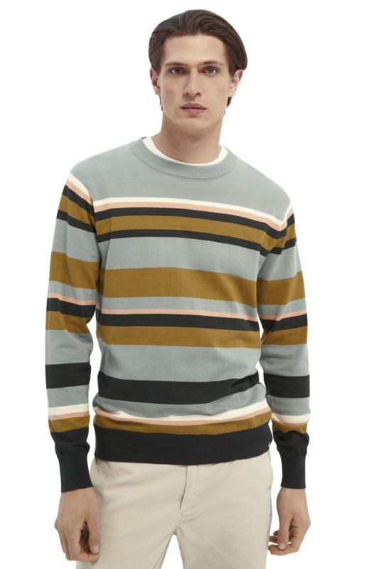"SCOTCH & SODA Herren Sweatshirt - ""Classic Striped Cotton Crewneck"""