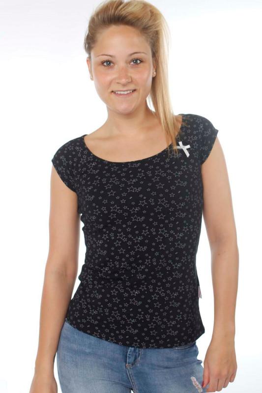 "STRANGE Damen T-Shirt - ""DESI 2 black / grey stars"""