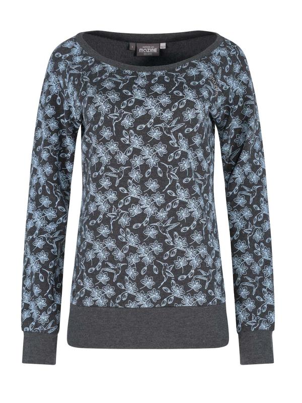 "MAZINE Damen Sweatshirt - ""TANAMI Sweater black mel / alllover"""