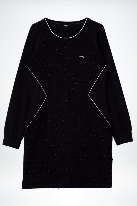 "Liu Jo Damen Kleid ""Abito Jersey nero"""