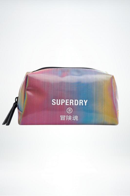 "Superdry Damen Wash Bag - ""Jelly Wash Bag rainbow holographic"""