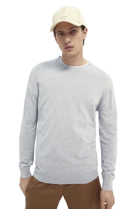 """SCOTCH & SODA Herren Sweatshirt - """"Classic Ecovero Viscose blue"""""""