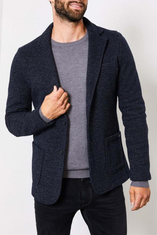 """PETROL Herren Jacket """"Blazer Jacket Knit deep capri"""""""