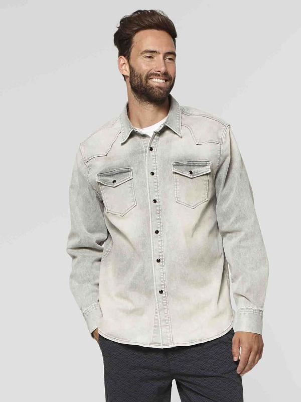 "Circle of Trust Herren Jeanshemd - ""Dean Denim Shirt concrete grey"""