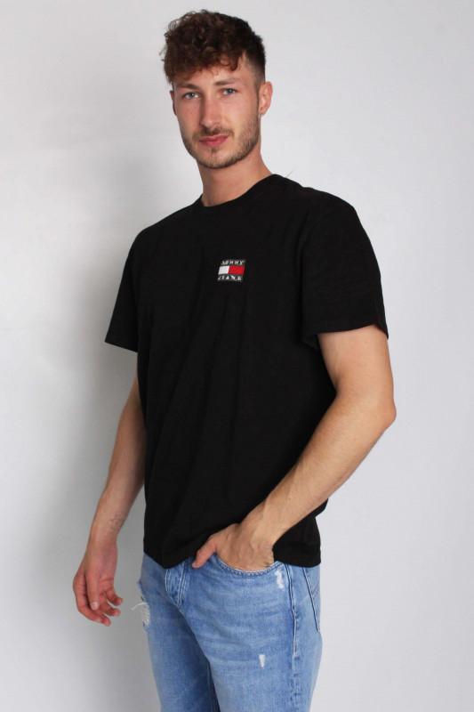 """TOMMY HILFIGER Herren T-Shirt - """"TJM Washed Tommy Badge Tee black"""""""