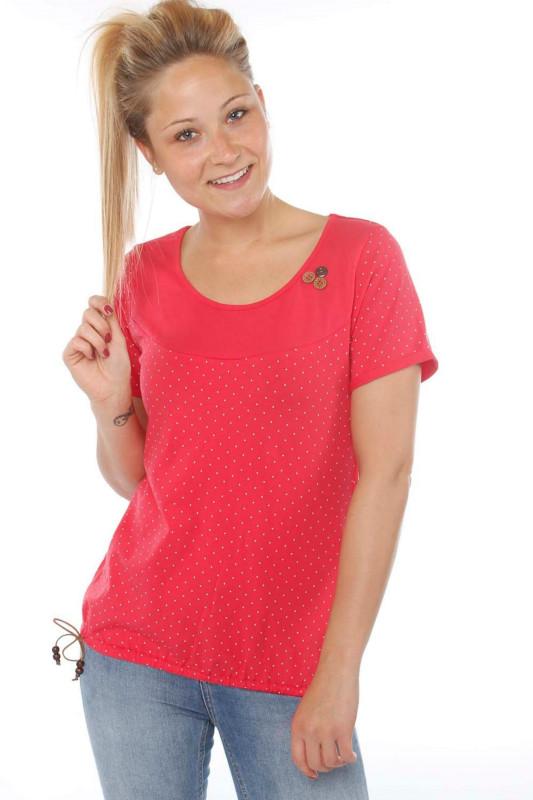 "STRANGE Damen T-Shirt - ""IRINA magenta / dots"""