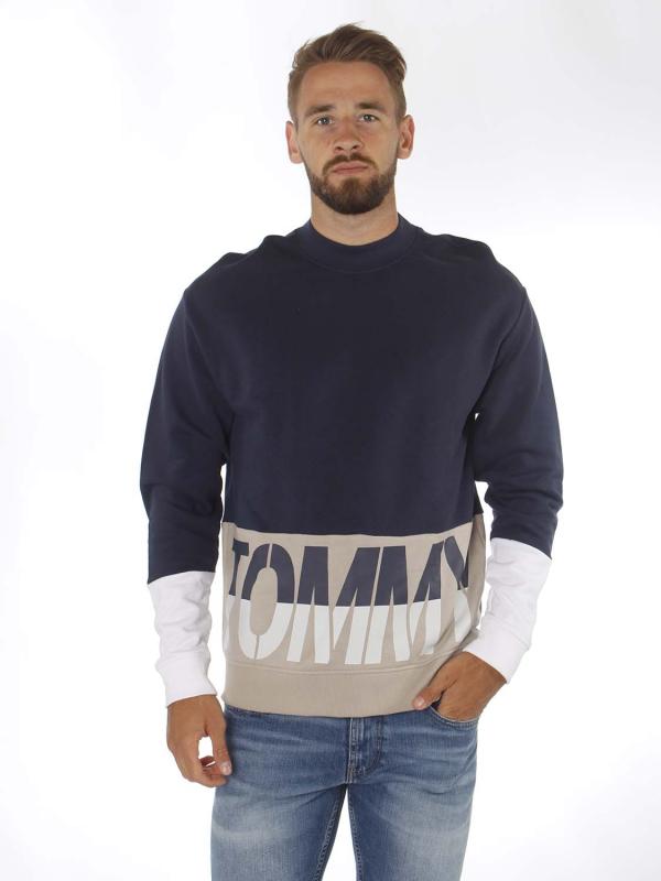 """TOMMY HILFIGER Herren Sweatshirt - """"Colorblock Logo crew navy/multi"""""""