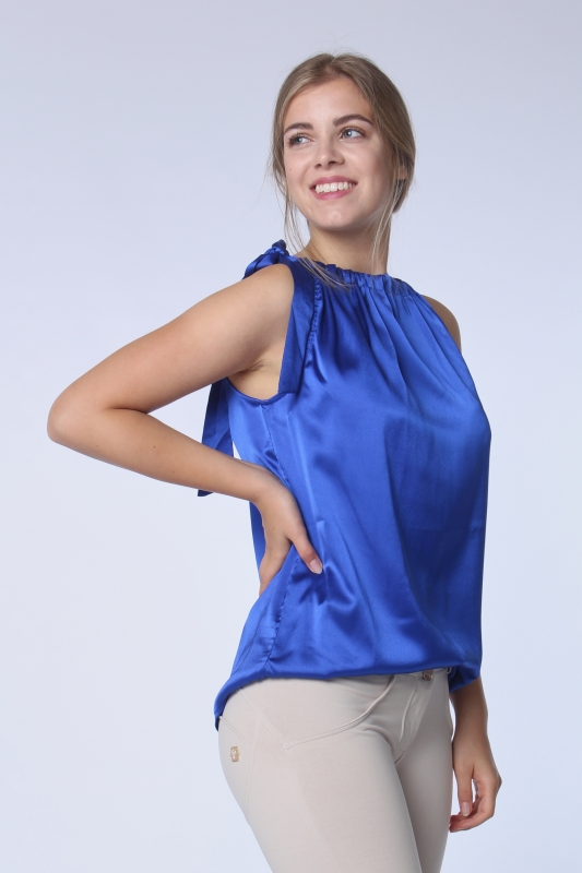 "STRANGE Damen Top - ""ROSA gloss blue"""
