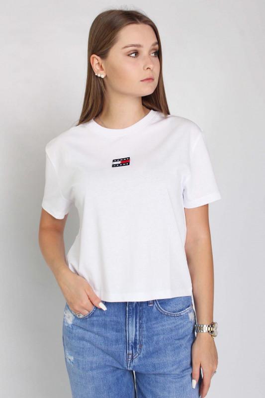 "TOMMY HILFIGER Damen T-Shirt - ""TJW Tommy Center Badge Tee white"""
