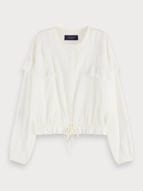 """Maison & Scotch Damen Bluse - """"Loose shirt with lace"""""""