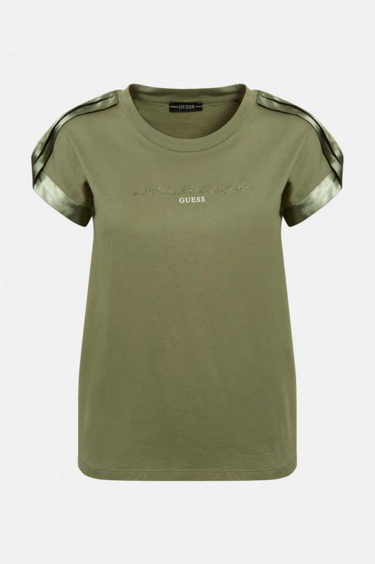 "GUESS Damen T-Shirt - ""SS CN Marlena Tee baja palm"""