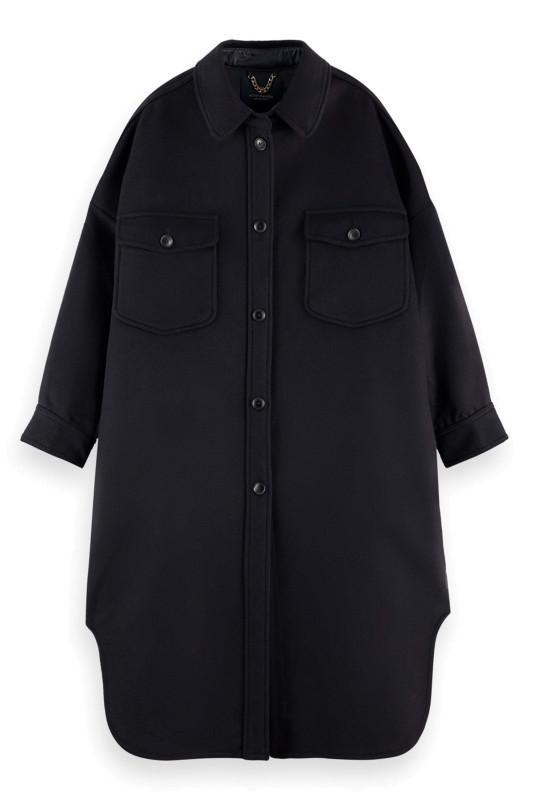 "SCOTCH & SODA Damen Jacke - ""Oversized shirtjacket wool"""