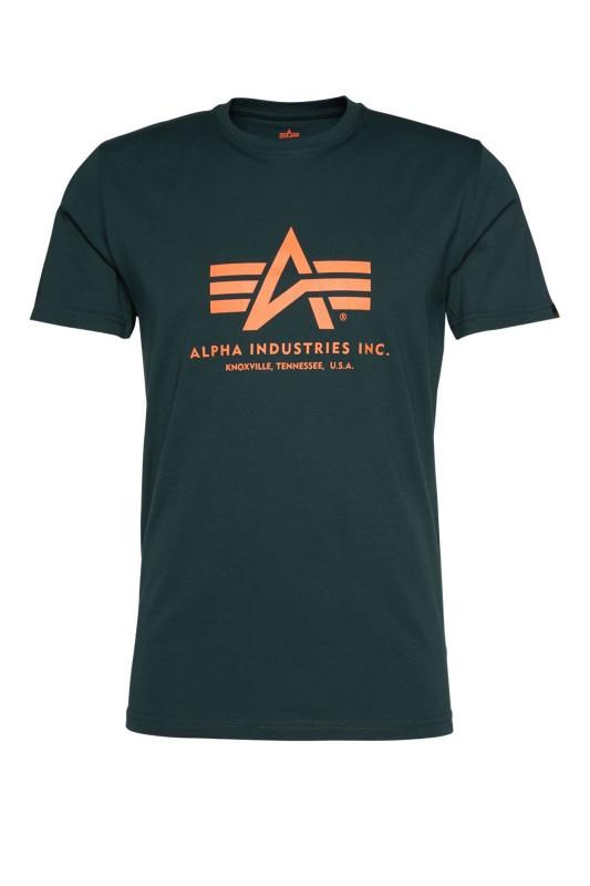"ALPHA INDUSTRIES Herren T-Shirt - ""BASIC T-SHIRT dark petrol"""
