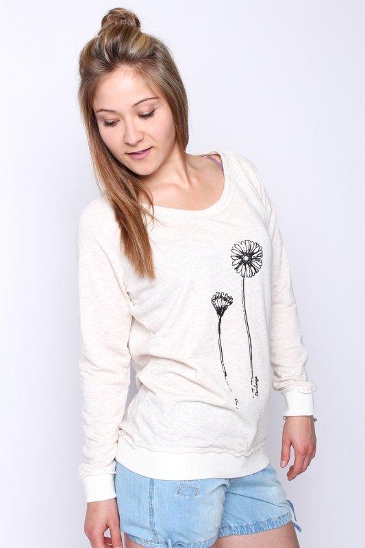"""STRANGE Damen Sweatshirt - """"SAMANTHA cream melange"""""""