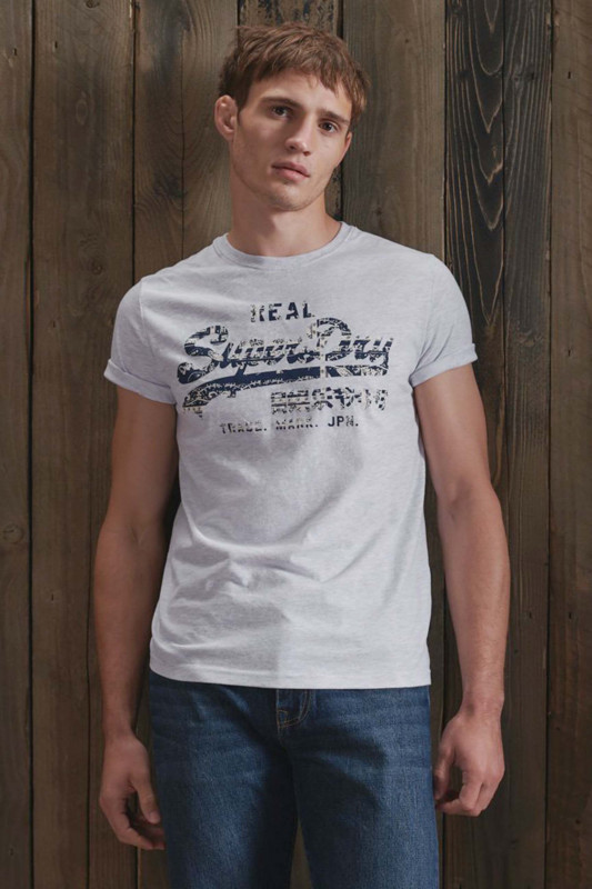 "Superdry Herren T-Shirt - ""Vintage Logo Infill Tee ice marl"""