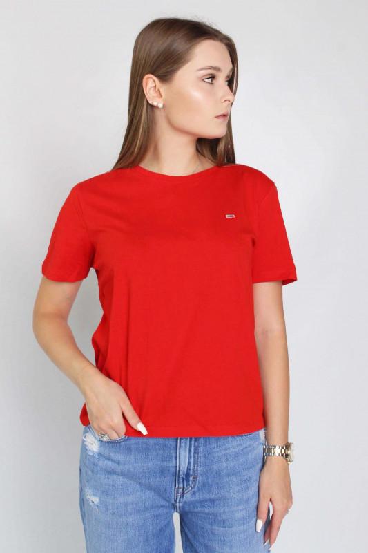 """TOMMY HILFIGER Damen T-Shirt - """"Soft Jersey Tee deep crimson"""""""