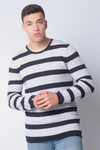 """CHASIN' Herren Pullover - """"Basal stripe navy"""""""