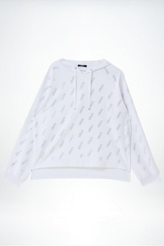 "Liu Jo Damen Sweatshirt - ""ECS Felpa Chiusa Bianco"""