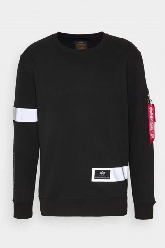 "ALPHA INDUSTRIES Herren Sweatshirt - ""Reflective Stripes Sweater bla"""