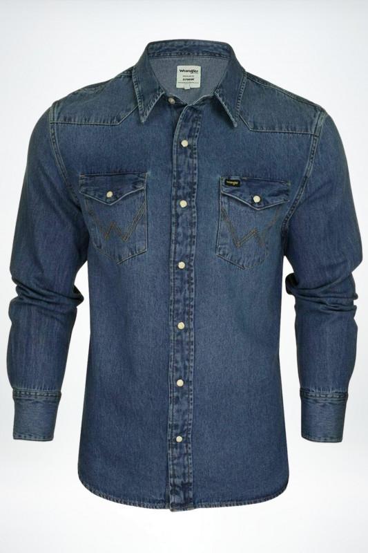 "Wrangler Herren Jeanshemd - ""1year denim shirts"""