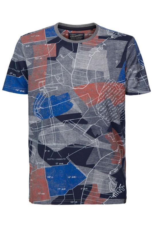 """PETROL Herren T-Shirt - """"Men T-Shirt SS R-Neck lava"""""""