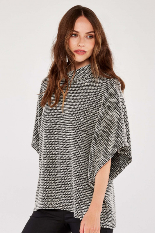 "APRICOT Damen Pullover - ""BLACK ROLL NECK BOUCLE CAPE"""