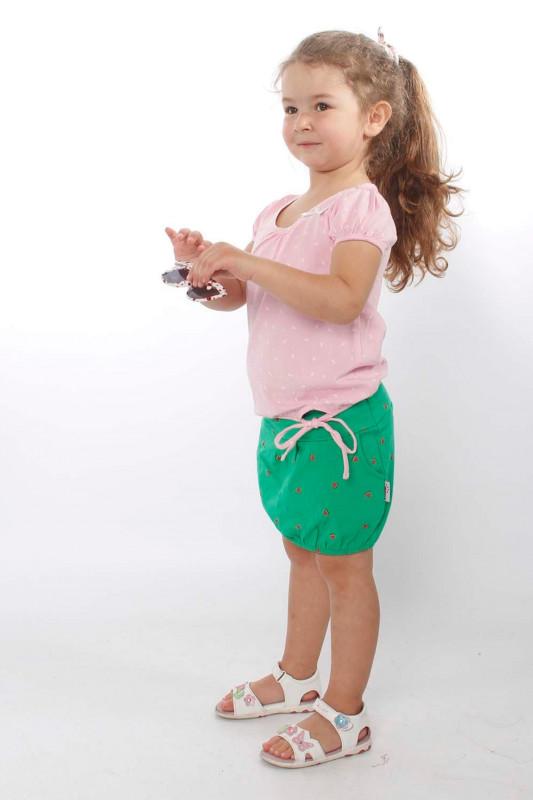 "STRANGE Kinder T-Shirt - ""Kids ILI SS pearl pink / white leafs"""
