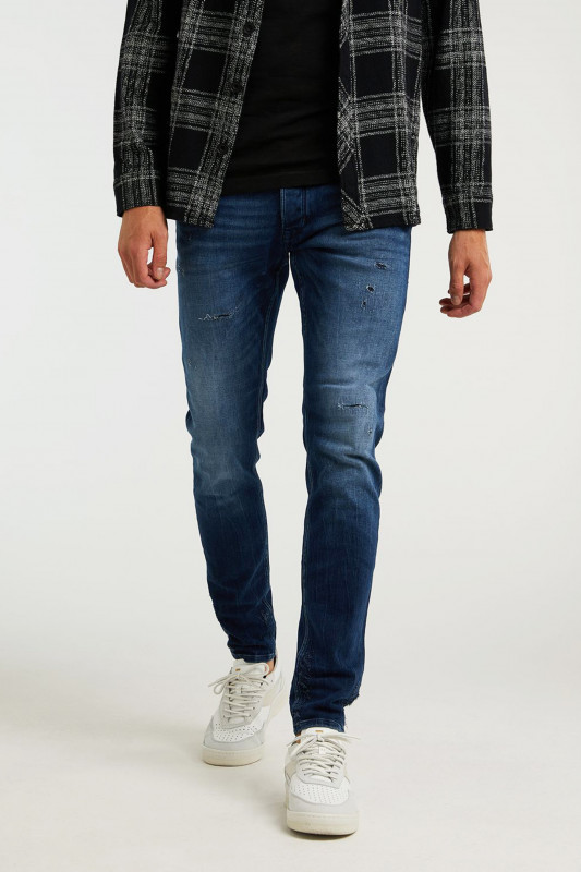 "Chasin Herren Jeans - ""Ego cobalt mid blue repaired"""